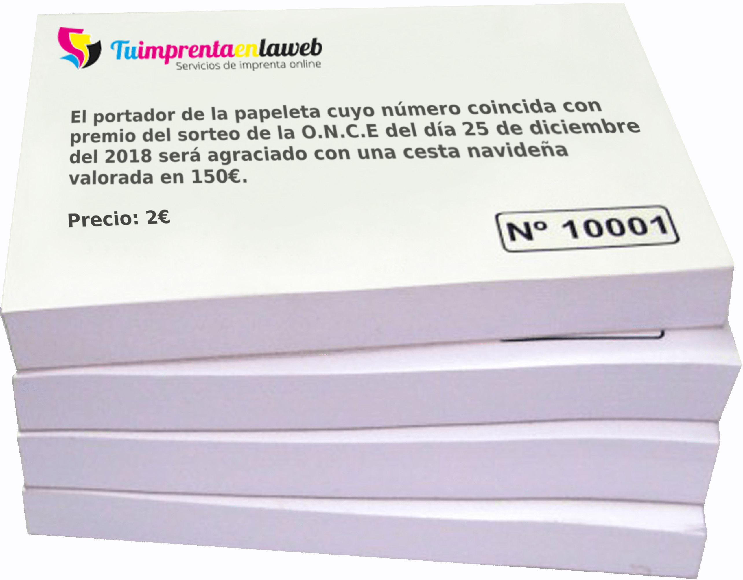 Papeletas Para Rifa Personalizadas Tu Imprenta En La Web